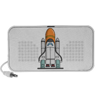 Transbordador espacial del dibujo animado sistema altavoz