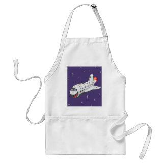 Transbordador espacial del dibujo animado delantal