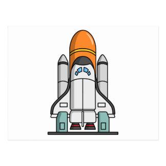 Transbordador espacial del dibujo animado tarjetas postales