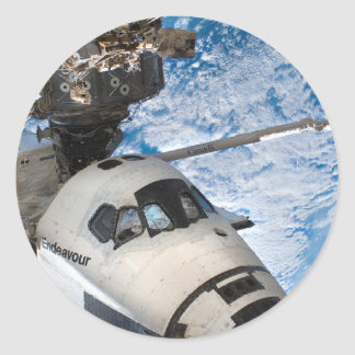 Transbordador espacial del esfuerzo pegatina redonda