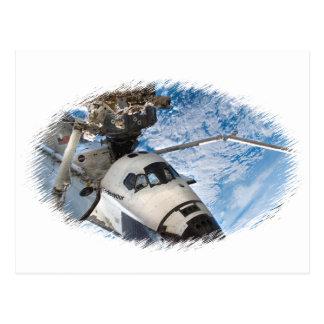 Transbordador espacial del esfuerzo tarjetas postales
