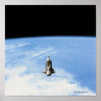 Transbordador espacial en la órbita 3 posters