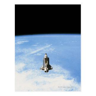 Transbordador espacial en la órbita 3 tarjeta postal