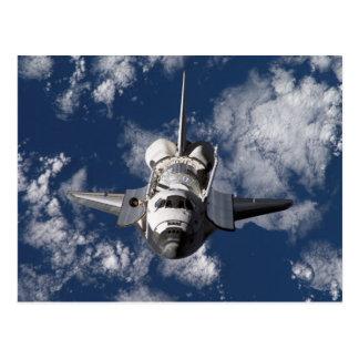 Transbordador espacial en tierra que está en órbit postales