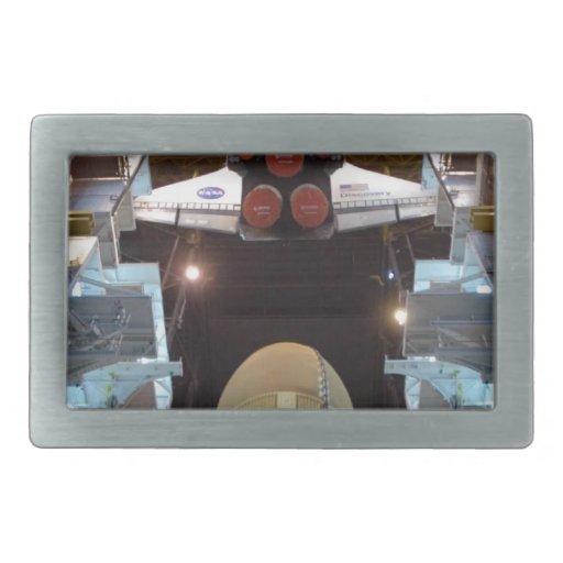 Transbordador espacial hebilla de cinturon rectangular