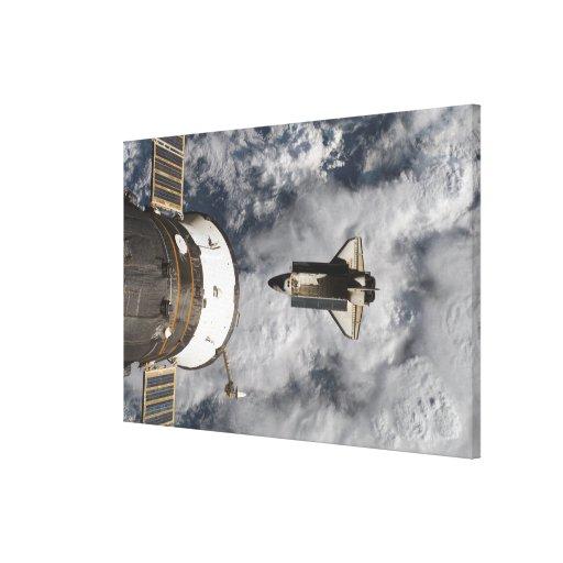 Transbordador espacial la Atlántida 2 Lona Envuelta Para Galerías