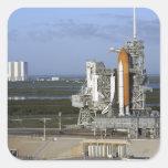 Transbordador espacial la Atlántida 3 Calcomanías Cuadradases
