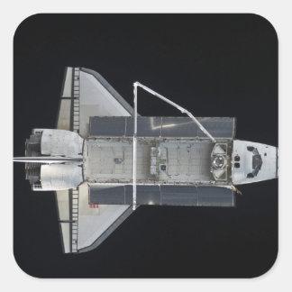 Transbordador espacial la Atlántida 4 Calcomanías Cuadradass