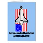 transbordador espacial la Atlántida Felicitacion