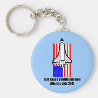transbordador espacial la Atlántida Llavero Redondo Tipo Pin
