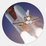 Transbordador espacial la Atlántida Etiquetas Redondas