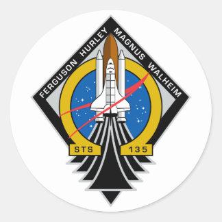 Transbordador espacial la Atlántida Pegatinas Redondas