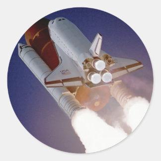 Transbordador espacial la Atlántida Pegatina Redonda