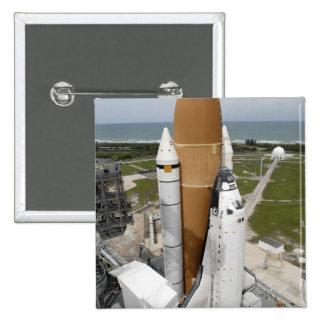 Transbordador espacial la Atlántida Pin Cuadrado