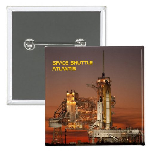 Transbordador espacial la Atlántida Pins