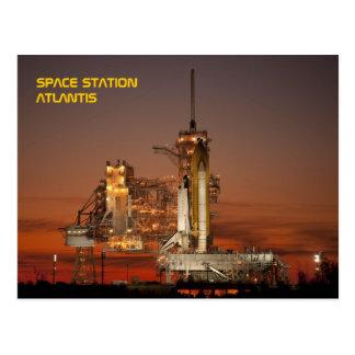 Transbordador espacial la Atlántida Postal