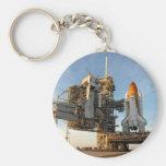 Transbordador espacial la Atlántida (STS-122) - pl Llavero Redondo Tipo Pin