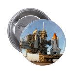 Transbordador espacial la Atlántida (STS-122) - pl Pin Redondo 5 Cm