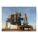 Transbordador espacial la Atlántida (STS-122) - pl Tarjeta De Felicitación