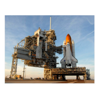 Transbordador espacial la Atlántida STS-122 - pl Postal
