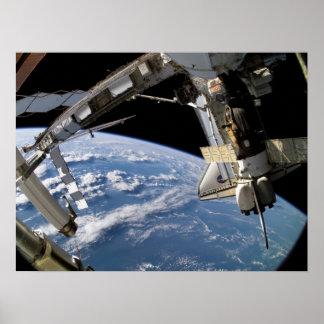 Transbordador espacial la Atlántida y ISS (STS-115 Posters