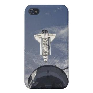 Transbordador espacial la Atlántida y una nave iPhone 4 Cobertura