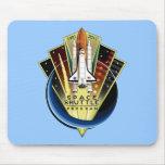 Transbordador espacial Mousemat conmemorativo Alfombrillas De Ratón
