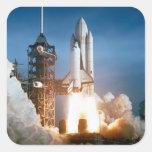 """""""Transbordador espacial """" Pegatina Cuadradas Personalizadas"""
