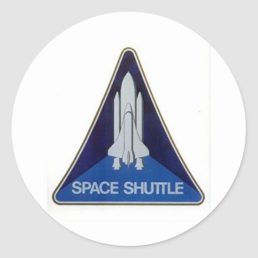 transbordador espacial pegatina redonda