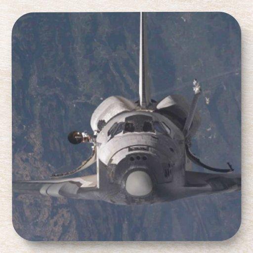Transbordador espacial posavasos de bebidas