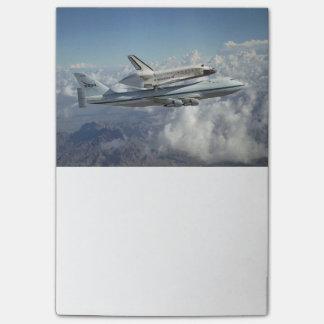 Transbordador espacial post-it® nota