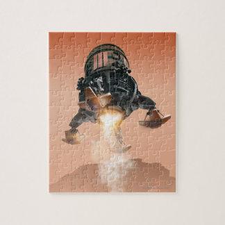 Transbordador espacial que aterriza 5 rompecabezas con fotos