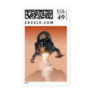 Transbordador espacial que aterriza 5 sellos