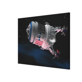 Transbordador espacial que está en órbita Marte Lienzo Envuelto Para Galerías