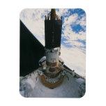 Transbordador espacial que lanza el satélite imanes de vinilo