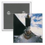 Transbordador espacial que lanza el satélite pin