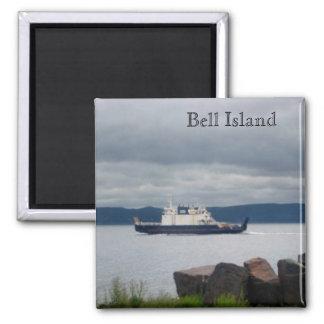 Transbordador Flandes de la isla de Terranova Bell Imán Cuadrado