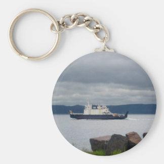 Transbordador Flandes de la isla de Terranova Bell Llavero Redondo Tipo Pin