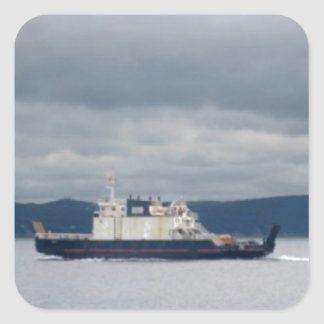 Transbordador Flandes de la isla de Terranova Bell Pegatina Cuadrada