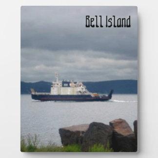 Transbordador Flandes de la isla de Terranova Bell Placa De Plastico