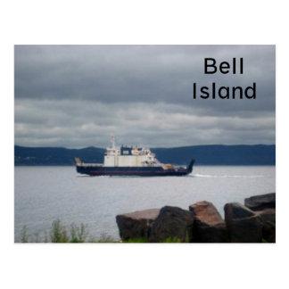 Transbordador Flandes de la isla de Terranova Bell Tarjeta Postal