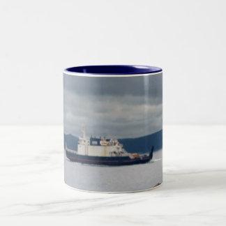 Transbordador Flandes de la isla de Terranova Bell Taza De Dos Tonos