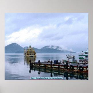 Transbordador, lago Toya, Hokkaido, Japón Impresiones