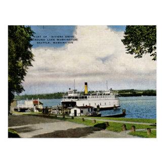 Transbordador, lago vintage de Washington, Seattle Postales