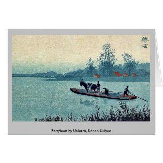 Transbordador por Uehara, Konen Ukiyoe Tarjetón