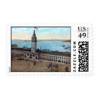 Transbordador que construye 1910 sellos postales