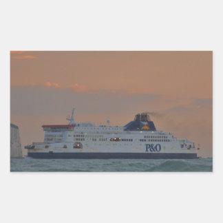 Transbordador que entra en Dover Rectangular Altavoz