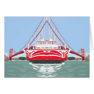Transbordador reflejado tarjeta de felicitación