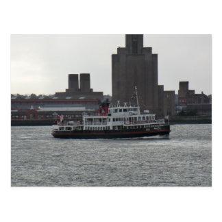 Transbordador sobre el río Mersey Tarjeta Postal