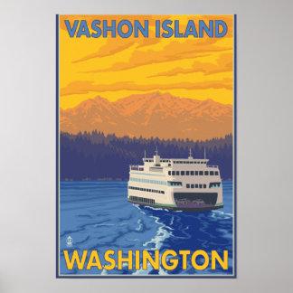 Transbordador y montañas - isla de Vashon, Impresiones
